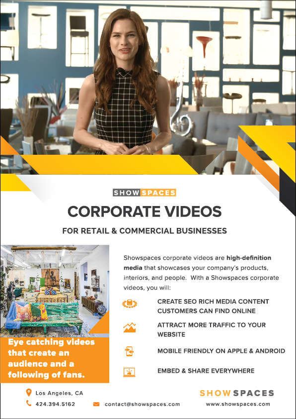 videographer corporate video flyer 1
