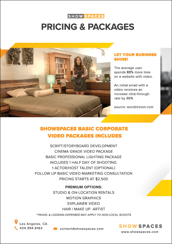 videographer corporate video flyer 2